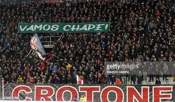 Fans of Crotone during the Serie A match between FC Crotone and Pescara Calcio at Stadio Comunale Ezio Scida on December 10 2016 in Crotone Italy