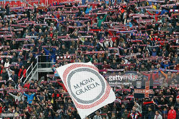 Fans of Crotone during the Serie A match between FC Crotone and FC Torino at Stadio Comunale Ezio Scida on November 20 2016 in Crotone Italy