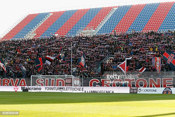 Fans of Crotone during the Serie A match between FC Crotone and UC Sampdoria at Stadio Comunale Ezio Scida on November 27 2016 in Crotone Italy