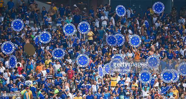 Fans of Cruzeiro a match between Cruzeiro and Gremio as part of Brasileirao Series A 2015 at Mineirao stadium on October 04 2015 in Belo Horizonte...