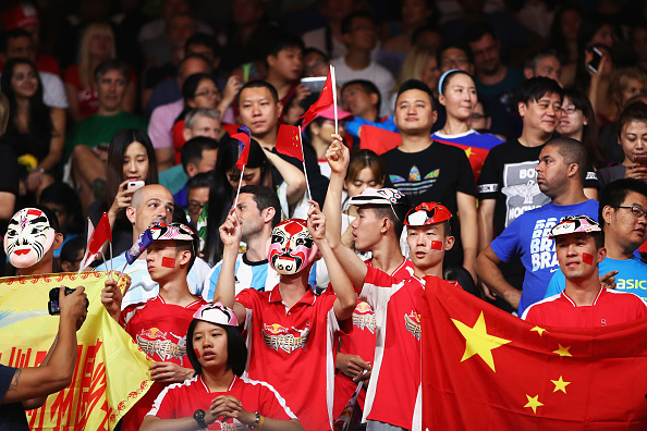 Image result for badminton fans cheering