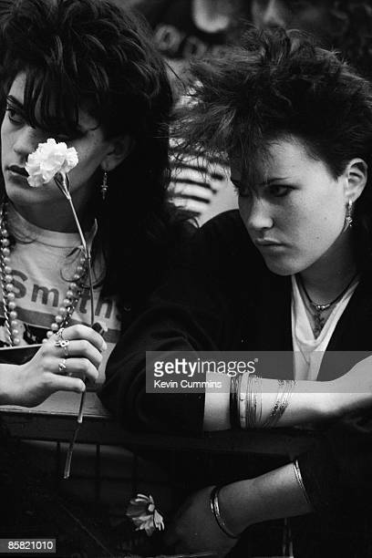 Fans of English pop group The Smiths at the GMEX centre Manchester during the Festival Of The 10th Summer 19th July 1986 Also on the bill at the...