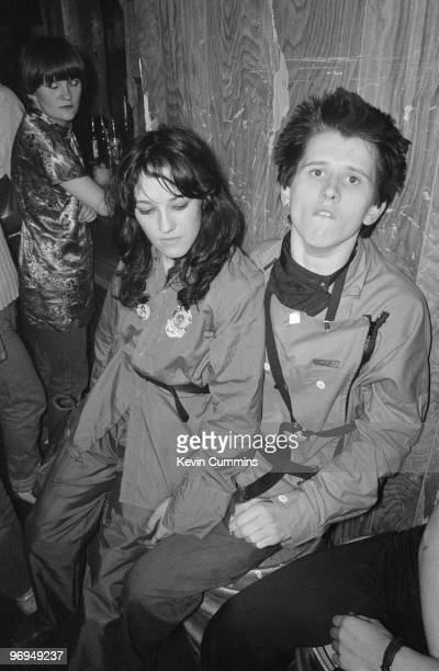 Fans of English punk band the Buzzcocks at the Ranch Club in Manchester England on July 22 1977