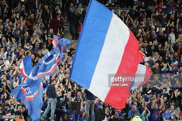 Fans of France during the Friendly game between France and Spain at Stade de France on march 28 2017 in Paris France