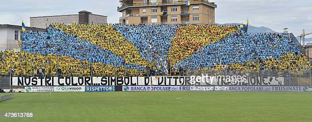 Fans of Frosinone before the Serie B match between Frosinone Cacio and FC Crotone at Stadio Matusa on May 16 2015 in Frosinone Italy