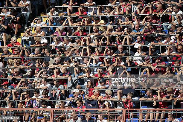 Fans of Genoa CFC during the Serie A match between Genoa CFC and Juventus FC at Stadio Luigi Ferraris on September 20 2015 in Genoa Italy