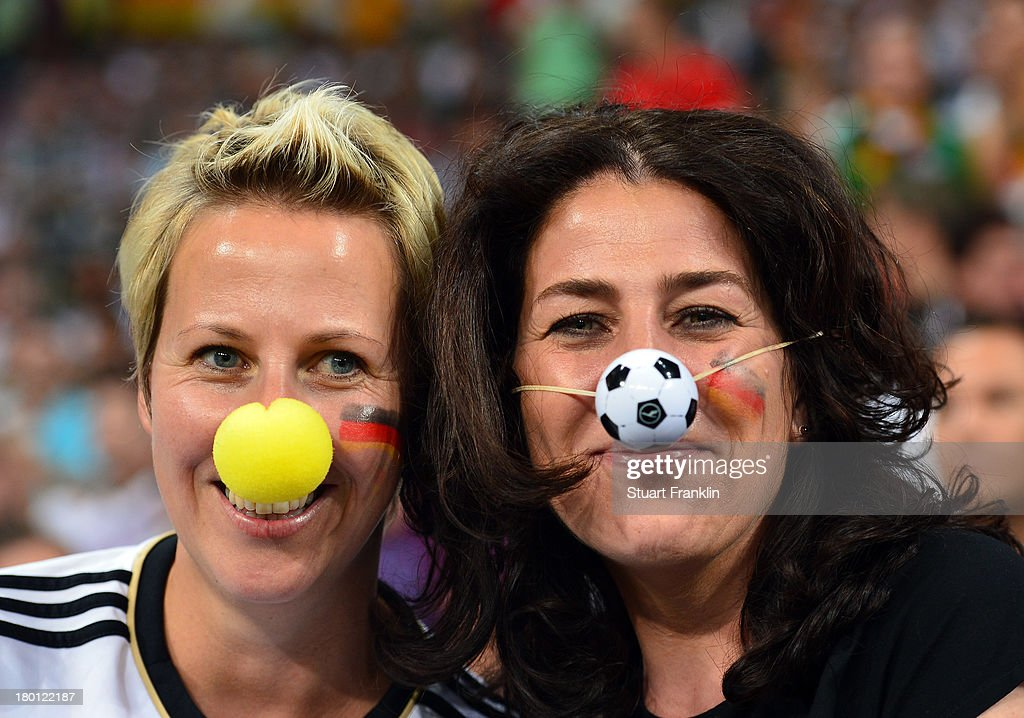Fans of Germany look on during the FIFA 2014 world cup qualifier match between Germany and Austria at the Allianz Arena on September 6, 2013 in Munich, Germany.