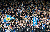 Fans of IFK Goteborg during the Allsvenskan match between IF Elfsborg and IFK Goteborg at Boras Arena on July 17 2016 in Boras Sweden