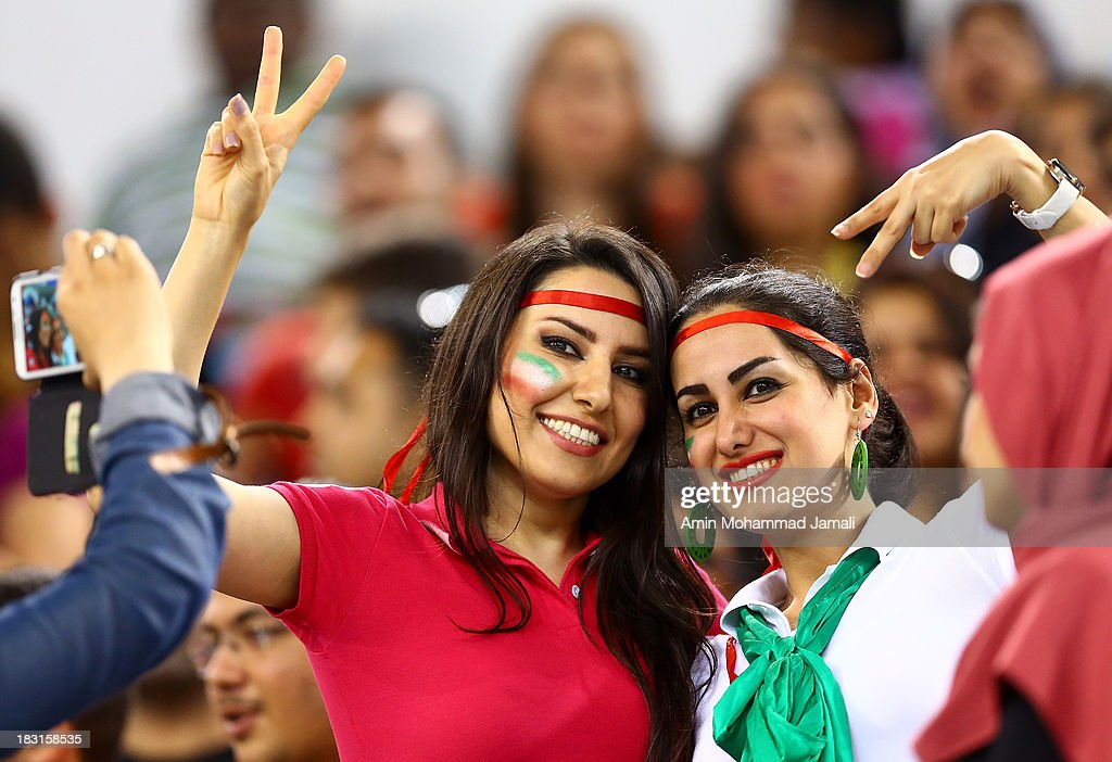 fans of Iran during 17th Asian Men's Volleyball Championship between Iran And Japan on October 5, 2013 in Dubai, United Arab Emirates.