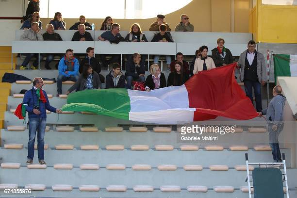 Fans of Italy during the 2nd Female Tournament 'Delle Nazioni' final match between Italy U16 and USA U16 on April 29 2017 in Gradisca d'Isonzo Italy