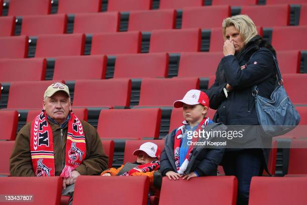 Fans of Koeln look thoughtful The Bundesliga match beween 1 FC Koeln and Mainz 05 that Rafati was due to referee at was postponed 45 minutes before...