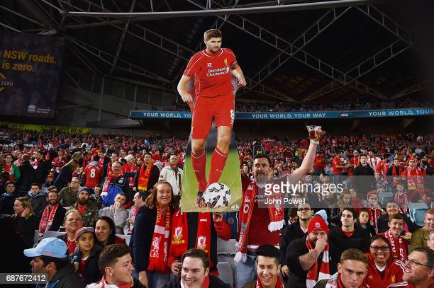 Fans of Liverpool during the International Friendly match between Sydney FC and Liverpool FC at ANZ Stadium on May 24 2017 in Sydney Australia