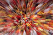 fans of Macedonia celebrate during the Men's European Handball Championship second round group one match between Poland and Macedonia at Beogradska...