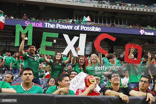 Fans of Mexico wait in the stands prior to the start of a group C match between Mexico and Venezuela as part of Copa America Centenario US 2016 at...
