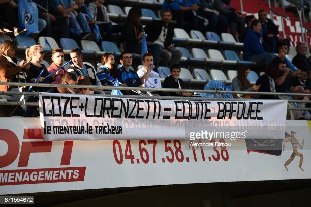 Fans of Montpellier during the Top 14 Match between Montpellier and Racing 92 on April 22 2017 in Montpellier France