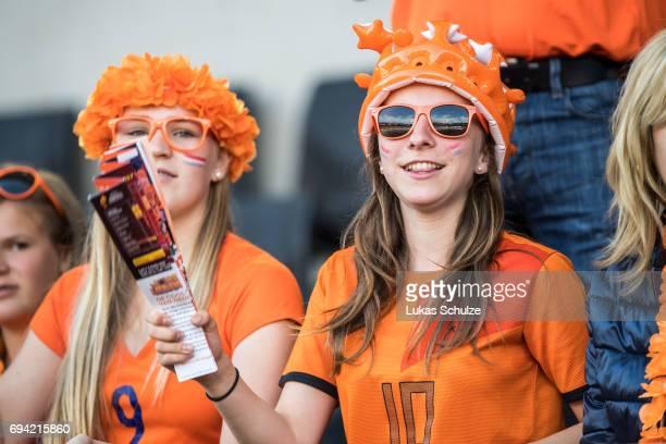 Fans of Netherlands attend the Women's International Friendly match between Netherlands and Japan at Rat Verlegh Stadion on June 9 2017 in Breda...