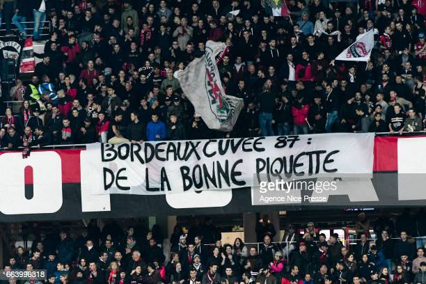 Fans of Nice of Nice during the French Ligue 1 match between Nice and Bordeaux at Allianz Rivera on April 2 2017 in Nice France