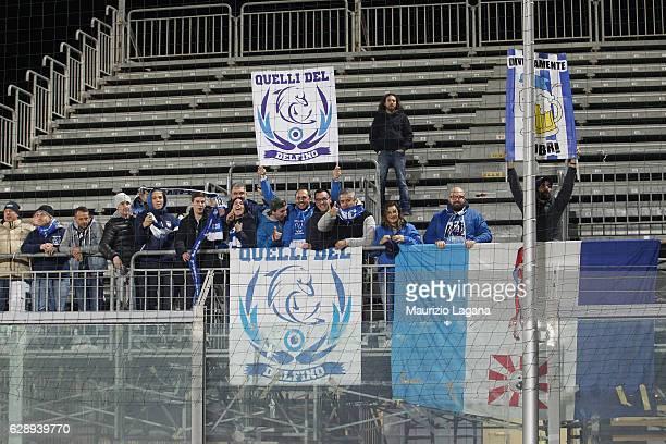 Fans of Pescara during the Serie A match between FC Crotone and Pescara Calcio at Stadio Comunale Ezio Scida on December 10 2016 in Crotone Italy