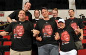 Fans of Portland Trail Blazer Greg Oden take in the game between the Houston Rockets and the Dallas Mavericks during NBA Summer League presented by...