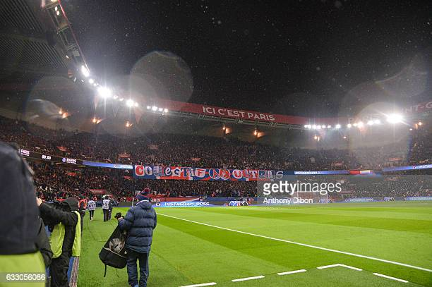 Fans of PSG during the French Ligue 1 match between Paris Saint Germain and Monaco at Parc des Princes on January 29 2017 in Paris France