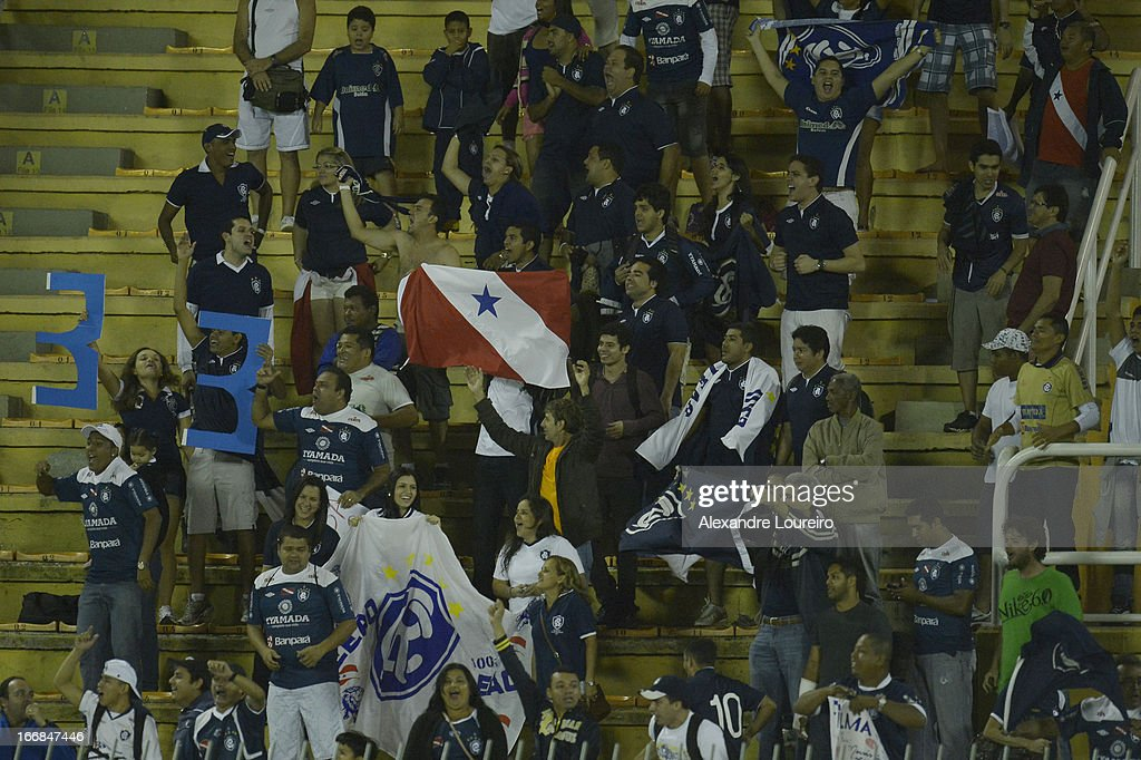 Fans of Remo cheer their team during the match between Flamengo and Remo as part of Brazil Cup 2013 at Raulino de Oliveira Stadium on April 17, 2013 in Rio de Janeiro, Brazil.