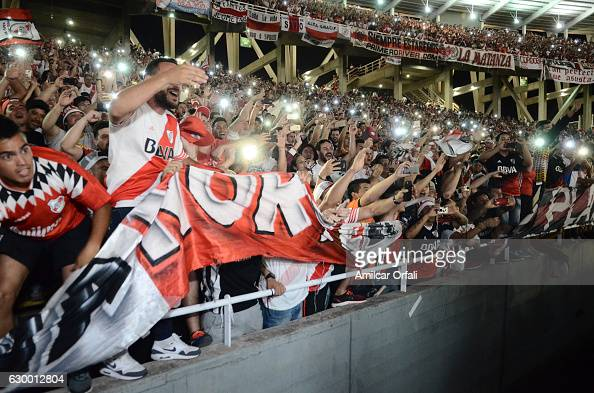 Fans of River Plate celebrate after a final match between River Plate and Rosario Central as part of Copa Argentina 2016 at Mario Alberto Kempes...