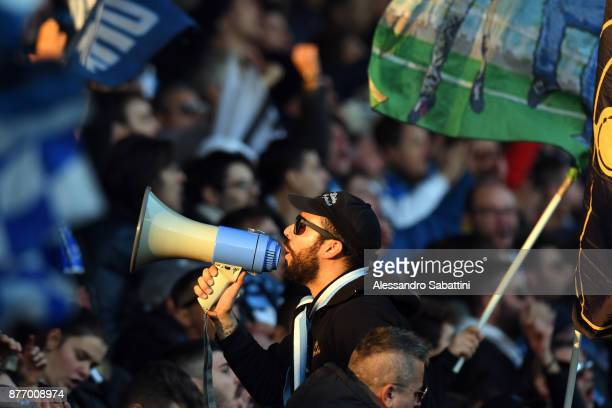 Fans of Spal during the Serie A match between Spal and ACF Fiorentina at Stadio Paolo Mazza on November 19 2017 in Ferrara Italy
