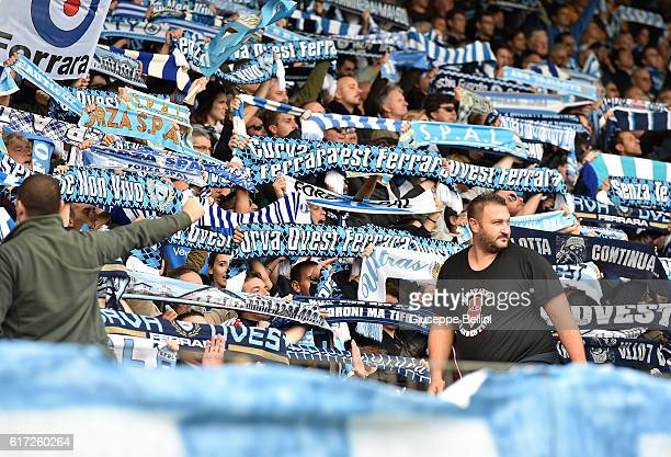Fans of Spal during the Serie B match between SPAL and Carpi FC at Stadio Paolo Mazza on October 22 2016 in Ferrara Italy