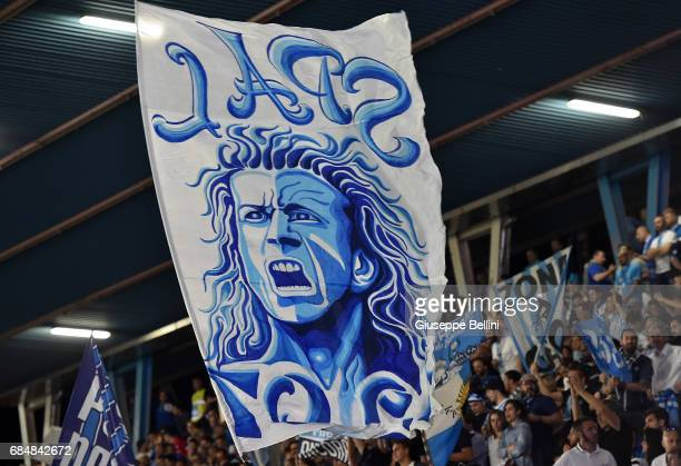 Fans of SPAL during the Serie B match between SPAL and FC Bari at Stadio Paolo Mazza on May 18 2017 in Ferrara Italy