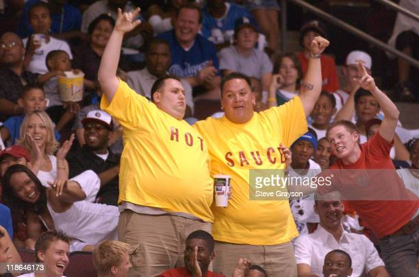Fans of Team AND1's 'Hot Sauce' show their support during at the 2004 AND1 Mix Tape Tour stop at Orleans Arena in Las Vegas Nevada June 16 2004