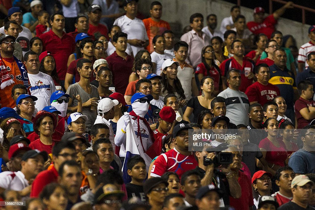 Fans of Team Panama watch from the stands during Game 6 of the Qualifying Round of the World Baseball Classic against Team Brazil at Rod Carew National Stadium on Monday, November 19, 2012 in Panama City, Panama.