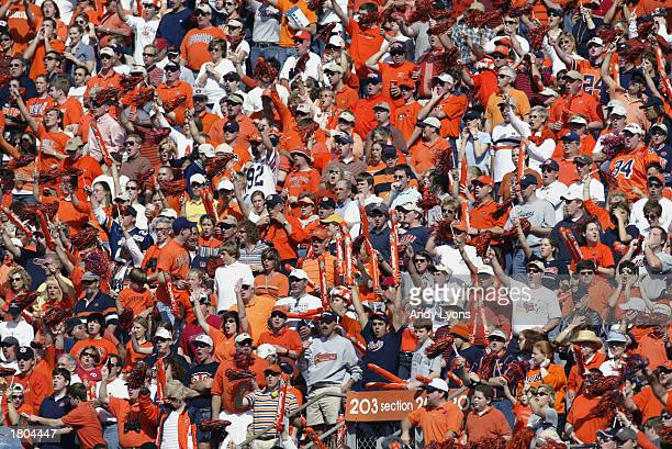 Fans of the Auburn University Tigers cheer during the Capital One Bowl against the Pennsylvania State University Lions at Florida Citrus Bowl Stadium...