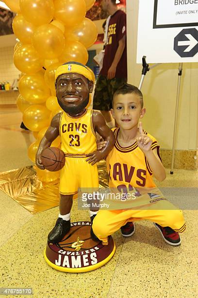 Fans of the Cleveland Cavaliers pose for photo prior to Game Four against the Golden State Warriors in the 2015 NBA Finals on June 11 2015 at Quicken...