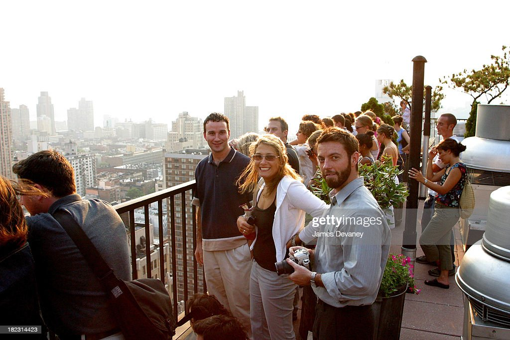 Fans of the Dave Matthews Band gather atop a midtown apartment building overlooking the Ed Sullivan Theatre where the band performed.