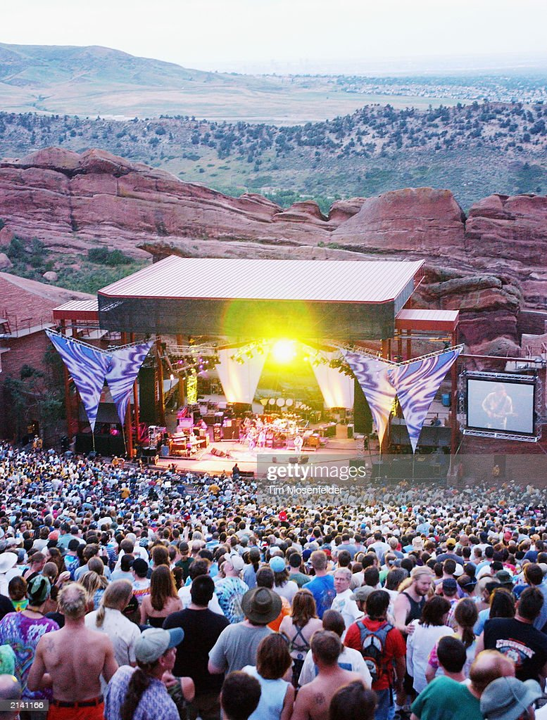 Fans of The Dead gather for a special engegement at the Red Rocks Amphitheater July 6 2003 in Morisson Colorado The Dead are currently touring the US...
