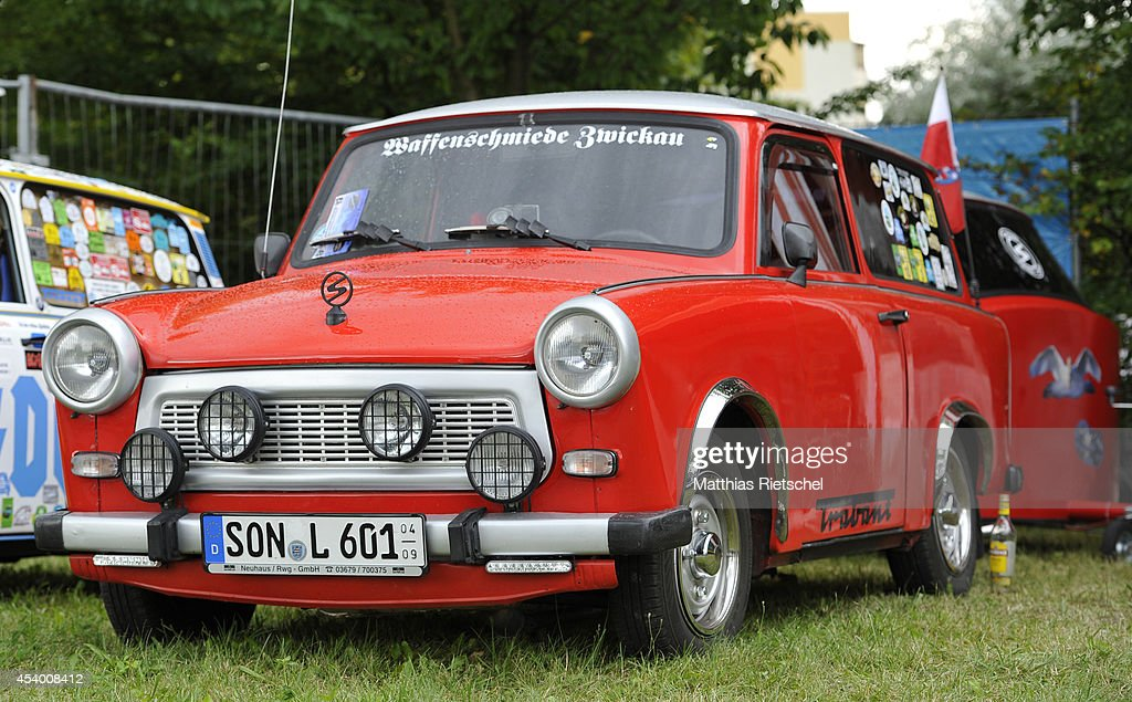 Fans of the East German Trabant car gather for their 7th annual get-together on August 23, 2014 in Zwickau, Germany. Hundreds of Trabant enthusiasts arrived to spend the weekend admiring each others cars, trading stories and enjoying activities. The Trabant, dinky and small by modern standards, was the iconic car produced in former communist East Germany and today has a strong cult following.