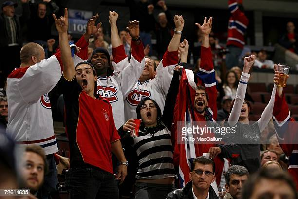 Fans of the Montreal Canadiens seem to outnumber the home fans of the Ottawa Senators for a game on November 13 2006 at the Scotiabank Place in...