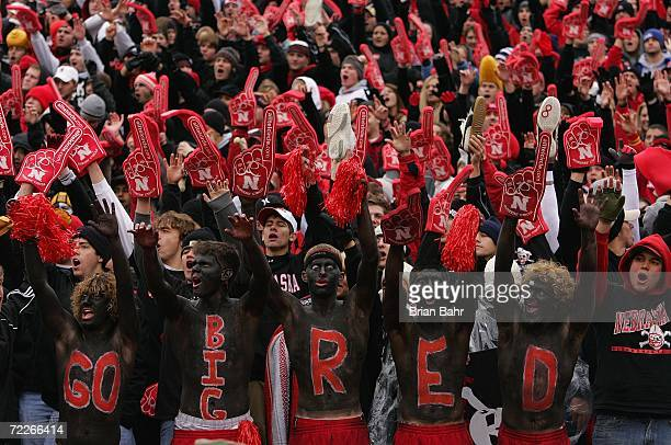 Fans of the Nebraska Cornhuskers show their support during the game against the Texas Longhorns on October 21 2006 at Memorial Stadium in Lincoln...