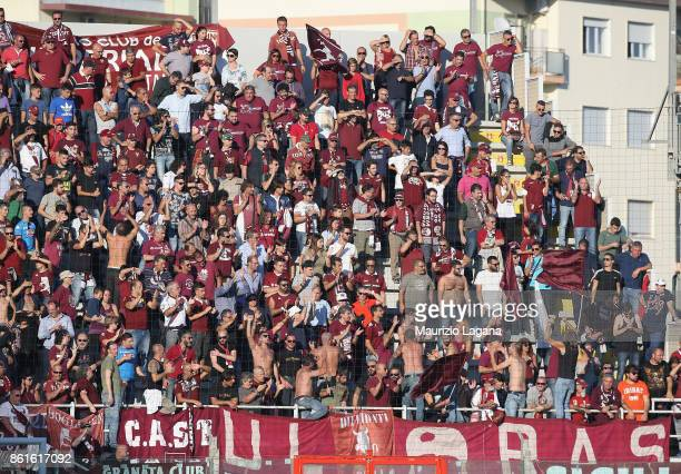 Fans of Torino during the Serie A match between FC Crotone and Torino FC at Stadio Comunale Ezio Scida on October 15 2017 in Crotone Italy