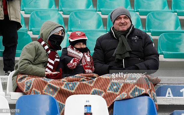 Fans of Torino during the Serie A match between US Sassuolo and FC Torino at Mapei Stadium Citta' del Tricolore on January 8 2017 in Reggio...