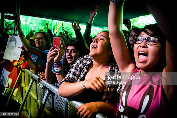 Fans of Twenty One Pilots at Metropolis Festival at Zuiderpark on July 6 2014 in Rotterdam Netherlands