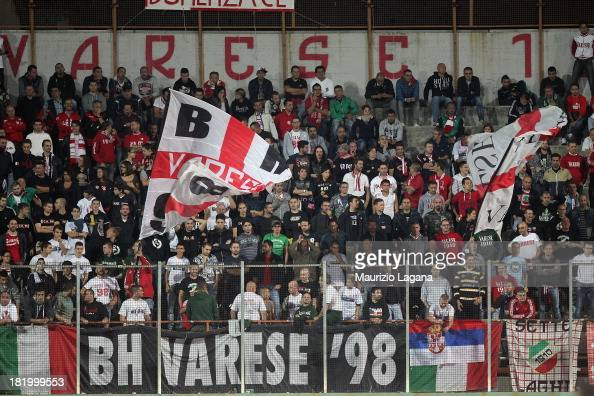 Fans of Varese during the Serie B match between AS Varese and Reggina Calcio at Stadio Franco Ossola on September 24 2013 in Varese Italy