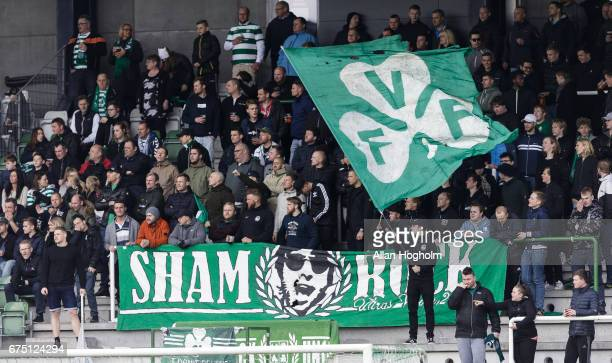 Fans of Viborg FF during the Danish Alka Superliga match between Viborg FF and AaB Aalborg at Energi Viborg Arena on April 30 2017 in Viborg Denmark