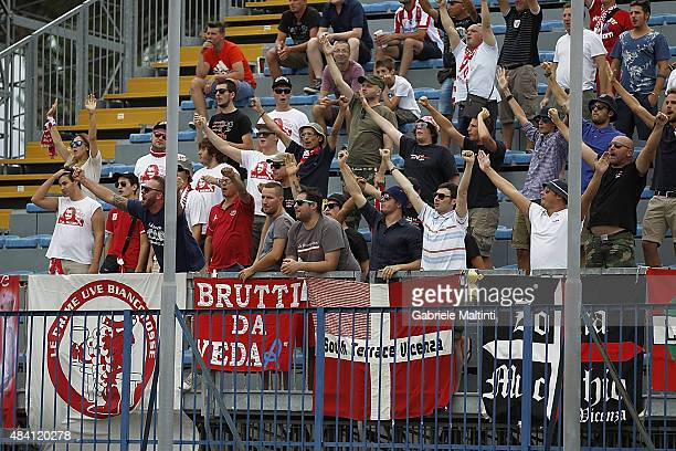 Fans of Vicenza Calcio during the TIM Cup match between Empoli FC and Vicenza Calcio at Stadio Carlo Castellani on August 15 2015 in Empoli Italy