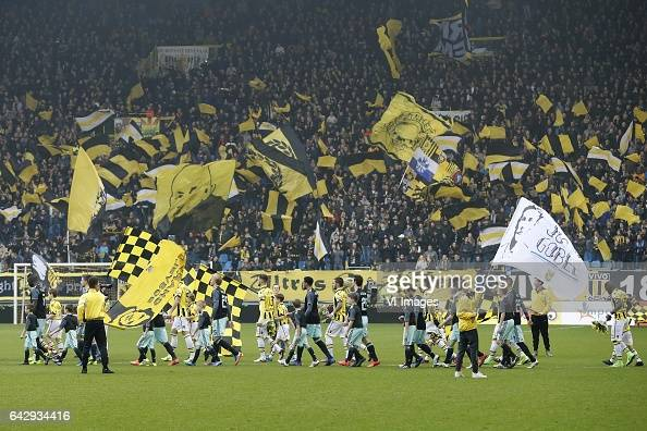 fans of Vitesseduring the Dutch Eredivisie match between Vitesse Arnhem and Ajax Amsterdam at Gelredome on February 19 2017 in Arnhem The Netherlands