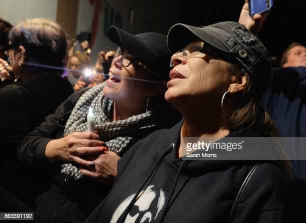 Fans participate during the Tom Petty Memorial Vampire Walk down Ventura Blvd on October 19 2017 in Sherman Oaks California