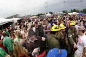 Fans party and gather in the infield during the 137th Kentucky Derby at Churchill Downs on May 7 2011 in Louisville Kentucky
