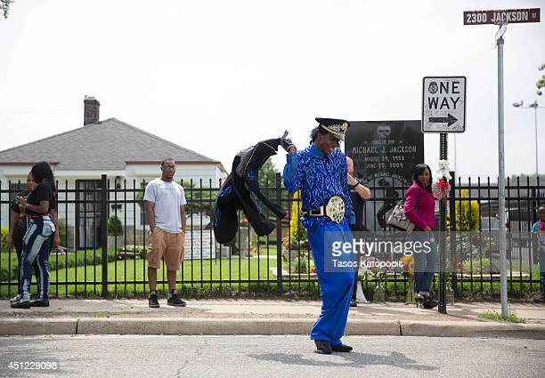 Gary indiana foto e immagini stock getty images for Jackson 5 mural gary indiana