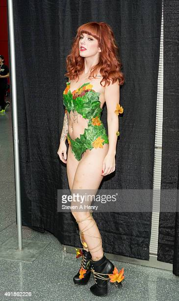 A fans poses in costume during day 1 of New York Comic Con at The Jacob K Javits Convention Center on October 8 2015 in New York City