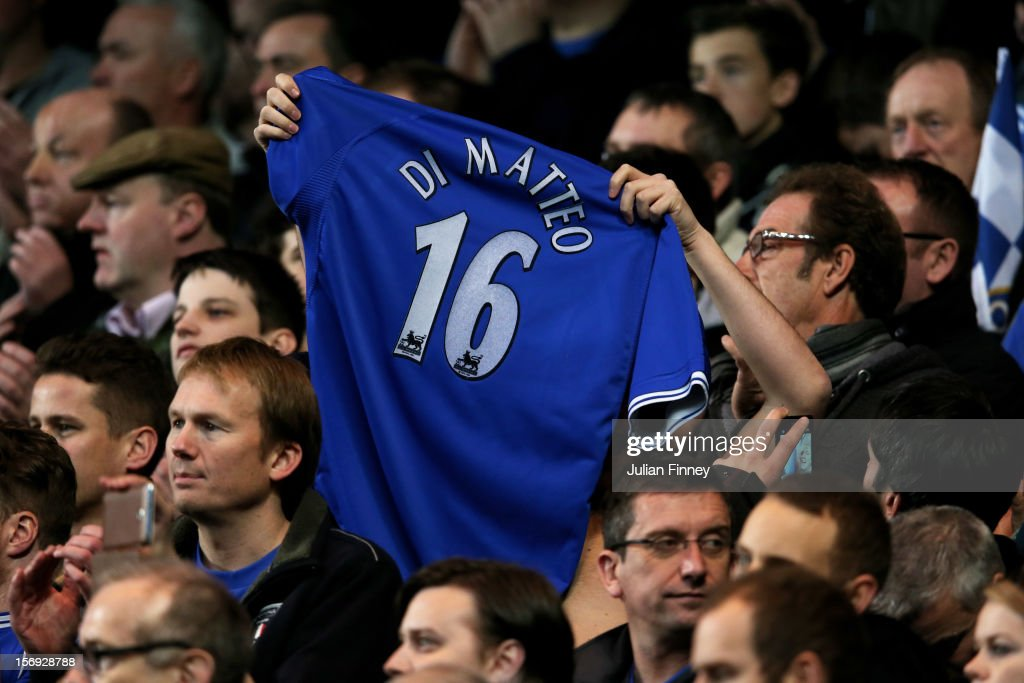 Fans protest over the sacking of previous manager Roberto di Matteo during the Barclays Premier League match between Chelsea and Manchester City at Stamford Bridge on November 25, 2012 in London, England.